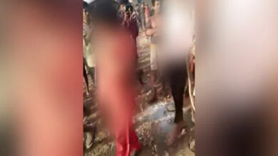 Photo of Rapped Girl Tied to Rope and Dragged on Road in Indian State of Madhya Pradesh
