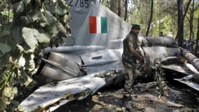 Photo of The Indian Air Force's MiG-21 Plane Crashes