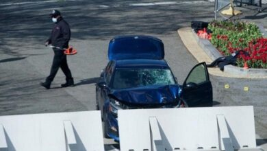 Photo of Security Personnel, Attacker Killed Outside Capitol Hill Building